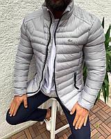 Куртка мужская светло серая. Куртка чоловіча. ТОП КАЧЕСТВО!!!, фото 1