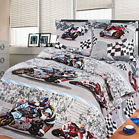 """Подростковое постельное белье Kidsdream """"Супербайк"""" полуторного размера."""