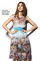 Платье из принтованого шифона, фото 1