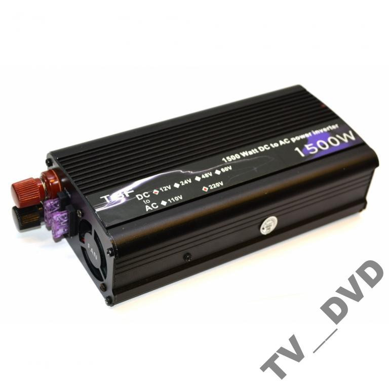 Преобразователь инвертор 12V-220V 1500W USB Акция!