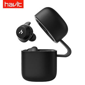 Стильные Беспроводные наушники-гарнитура HAVIT G1 в зарядном кейсе Bluetooth 5.0 серый