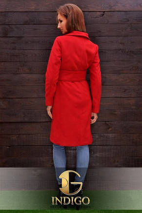 Пальто с широким поясом, фото 2