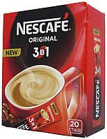 Nescafe 3в1 Original кавова суміш, (карт.короб 20 стік/13гр)
