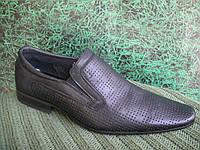 Мужские чёрные классические кожаные туфли