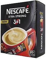 Nescafe 3в1 Extra Strong кавова суміш, (карт.короб 20 стік/17.2гр)