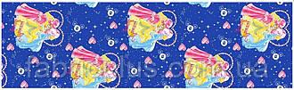 """Бязь 'Gold' 18407 blue-1 """"Принцессы"""""""