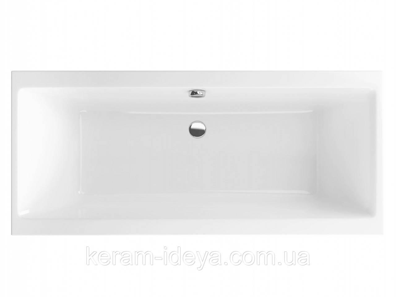 Ванна акриловая Excellent Pryzmat Slim 170х75см WAEX.PRY17WHS-BN