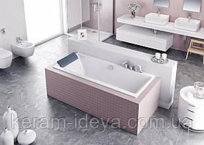 Ванна акриловая Excellent Pryzmat Slim 170х75см WAEX.PRY17WHS-BN, фото 2