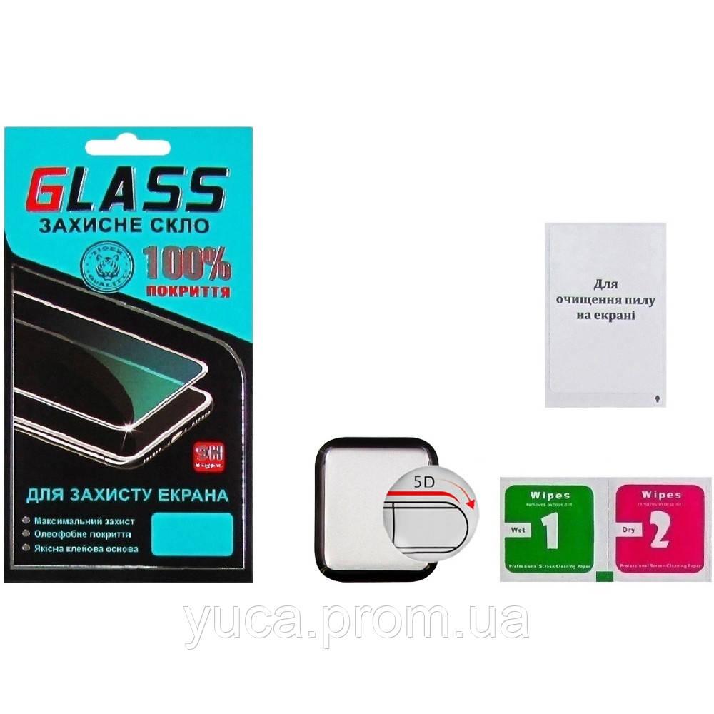 Защитное стекло для APPLE Watch 40mm (2018) (0.3 мм, 5D чёрное) ТОП
