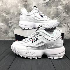 Женские кроссовки Fila Disruptor II, Белые, Кожа