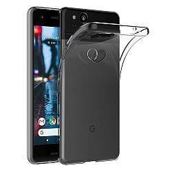 Прозрачный Чехол Google Pixel 2 (ультратонкий силиконовый) (Гугл Пиксель 2)