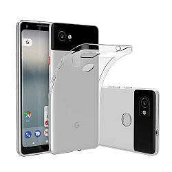 Прозрачный Чехол Google Pixel 2 XL (ультратонкий силиконовый) (Гугл Пиксель 2 ХЛ)