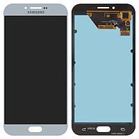 Дисплей для Samsung Galaxy A8 (2016) A810 Dual, модуль в сборе (экран и сенсор), голубой, оригинал