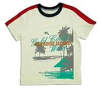 """Футболка для мальчика """"Пляж"""", рост 122, цвет: молочный"""