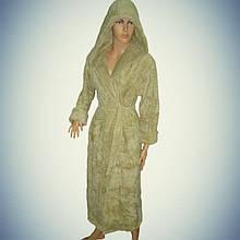 Женский халат длинный с капюшоном Турция