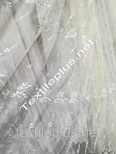 Тюль из фатина с серебром