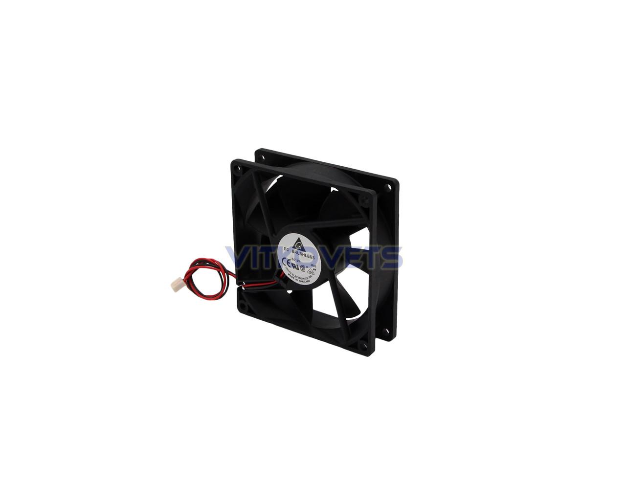 Вентилятор (кулер) 92х92, 12V, 0.12A (2 pin)