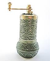 Мельница для  приправ и специй, Перцемолка 10,5х5 см, цвет: состаренное серебро