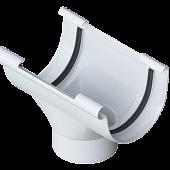 Лійка ПВХ для ринви 125 мм біла Альта Профіль (Воронка зливна)