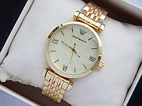 Наручные часы Emporio Armani небольшого размера, золото, золотистый циферблат, фото 1