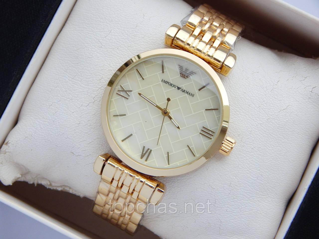 637cc1d2 Наручные часы Emporio Armani небольшого размера, золото, золотистый  циферблат - Top Chas - Интернет