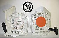 Стартер Stihl MS 181, Stihl MS 211 (11390802102, корпус вентилятора с пусковым для бензопил Штиль 181), Falcon
