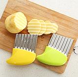 Нож для волнистой нарезки овощей «Compact» розовый, фото 9