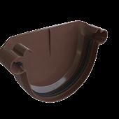 Заглушка для ринви коричнева Альта-Профіль, Заглушка желоба.