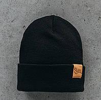 Зимняя мужская шапка Staff KS0103 черная
