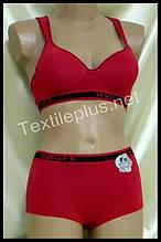 Комплект женского нижнего белья Sport Lu lola красный 6788 B
