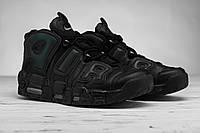 Мужские стильные кроссовки высокие Nike Air More Uptempo (Топ качество, найк, реплика), фото 1