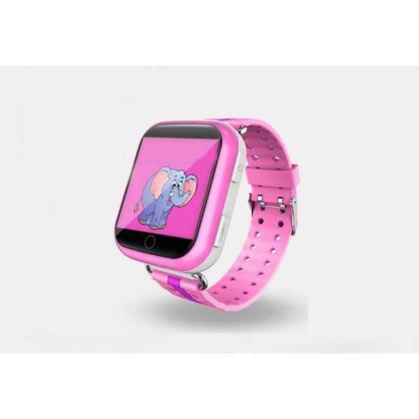 Детские часы-телефон c GPS Smart Baby Watch Q100 (розовые)