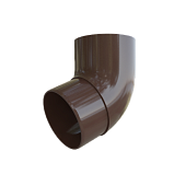 Коліно труби Альта-Профіль коричневе