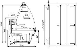 Кондитерская витрина Полюс ВХСд-1,2, фото 2