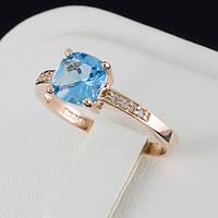Авантажное кольцо с кристаллами Swarovski, покрытие золото 0527