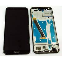 Дисплей для Huawei Honor 9 Lite Dual Sim (LLD-L31) с тачскрином и рамкой серый Оригинал