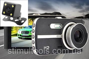 Відеореєстратор T 653, 2 камери, FULL HD, метал