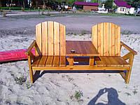Стол-лавка для дачи и пляжа