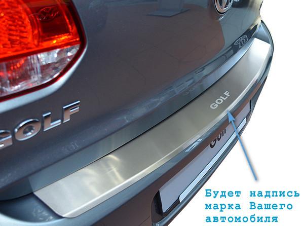 Накладка на бампер  Volkswagen GOLF VI PLUS 2010- / Фольксваген Гольф 6 плюс Nataniko