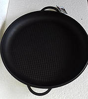 Крышка-сковорода чугунная, ТМ Термо. Диаметр 340мм, рифленое дно, фото 1