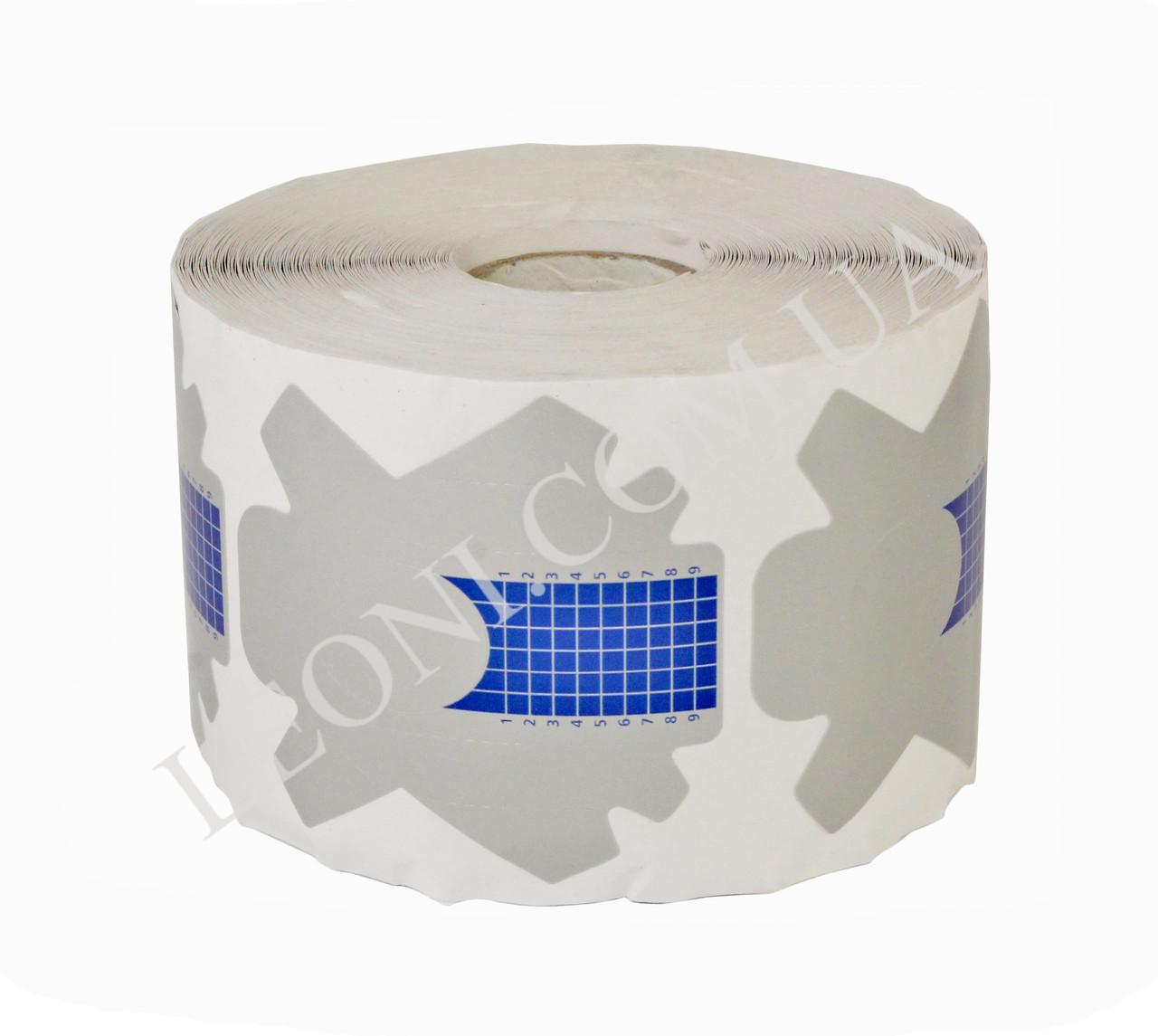 Серо-голубые формы для наращивания ногтей 500 шт в рулоне