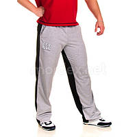Get Big, Штаны спортивные ровные GET BIG Серый/Черный MD3448, фото 1