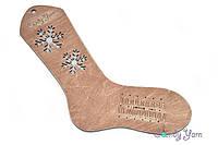 Блокатор для вязания носков Красное дерево