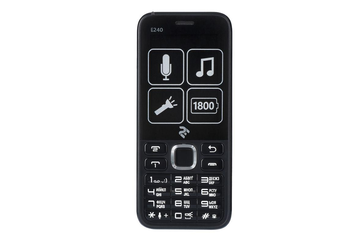 """Телефон кнопочный мобильный с мощным аккумулятором на 2 сим карты экран 2,4"""" 2E E240"""