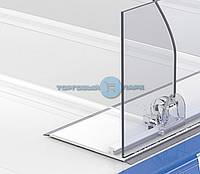 Ограничитель пластиковый высотой 80 мм с Т-профилем на скотче