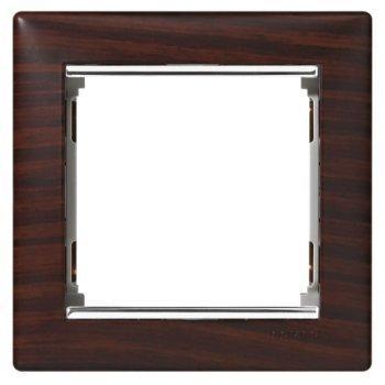 Рамка 1 пост. темне дерево/срібло, Legrand Valena 770371