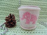 Вязаный чехол на чашку, фото 3