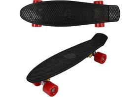 Пенни борд 55 см. (Penny board) со светящимися колесами Черный