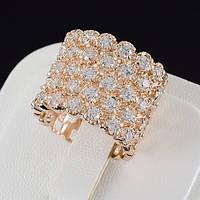 Роскошное кольцо с кристаллами Swarovski, покрытие золото 0529