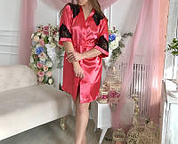 Соблазнительный кружевной комплект красного цвета, фото 1